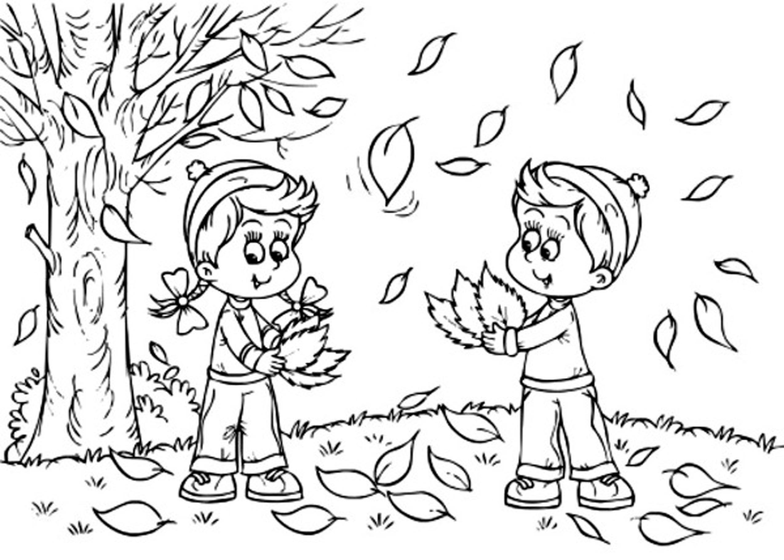 fall coloring pages for pre k - aranyos szi kifest k