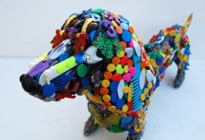 recycled toy dog