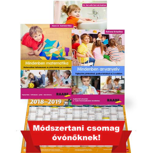 Játékos óvodai foglalkozások csomag ajándék plakátnaptárral