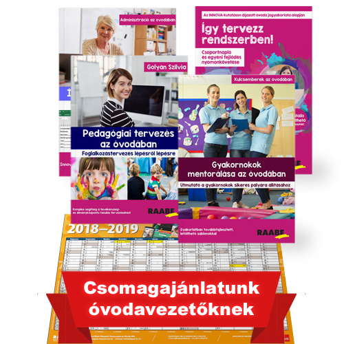 Óvodavezetők kedvence csomag ajándék plakátnaptárral